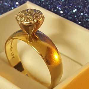10k Real gold, Cluster DIA, 2.95g Sz6